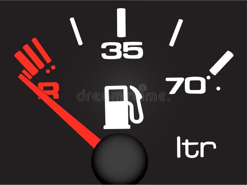 De meter van de benzine. stock illustratie