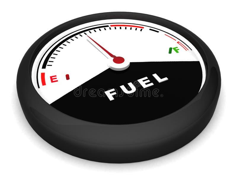 De meter van de brandstof in vlakke positie stock illustratie