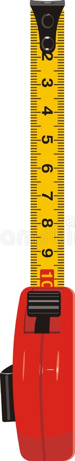 De meter van de maatregel royalty-vrije illustratie