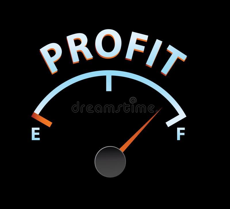 De meter van de winst vector illustratie