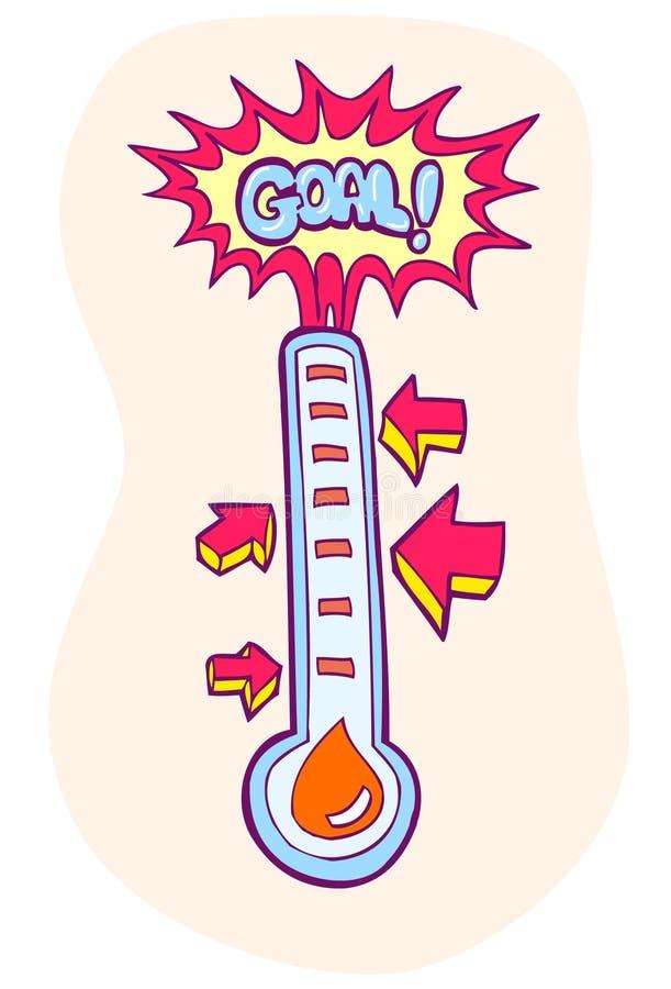 De Meter van het doel vector illustratie