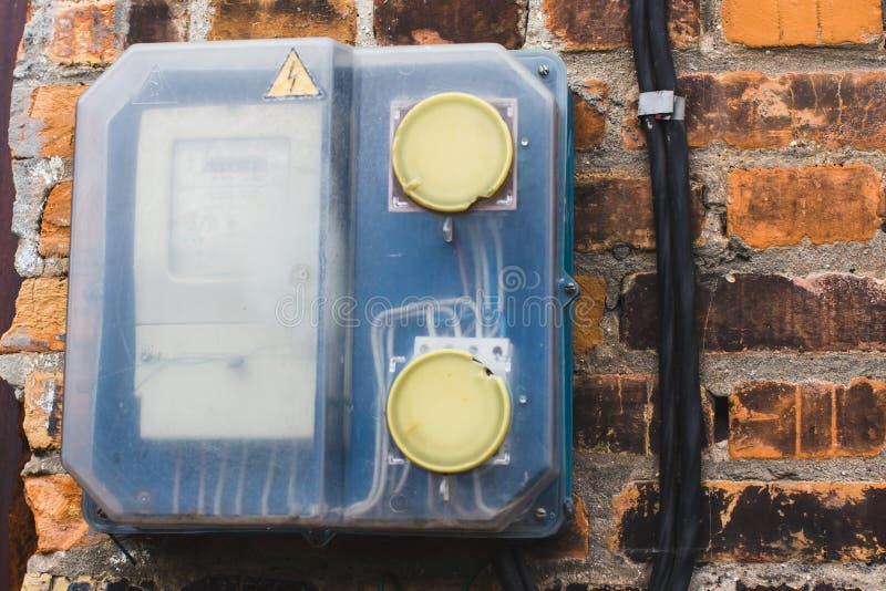 De meter van het gas royalty-vrije stock afbeeldingen