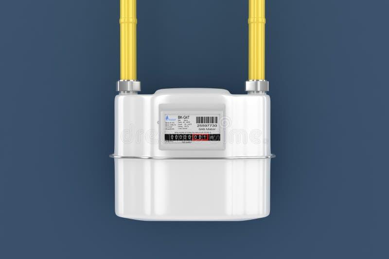 De meter van het huisgas royalty-vrije illustratie
