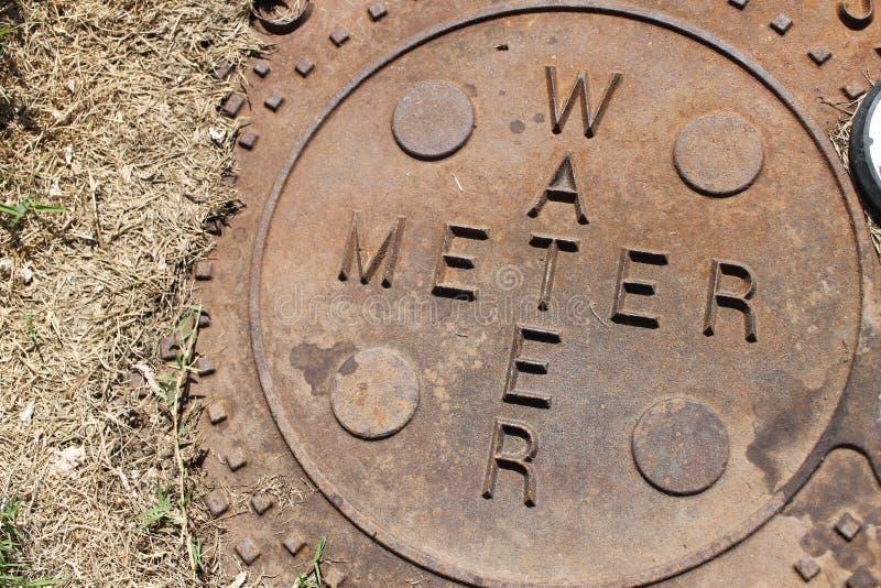 De meter van het water stock foto