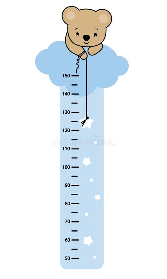 De meter van de kindmuur vector illustratie