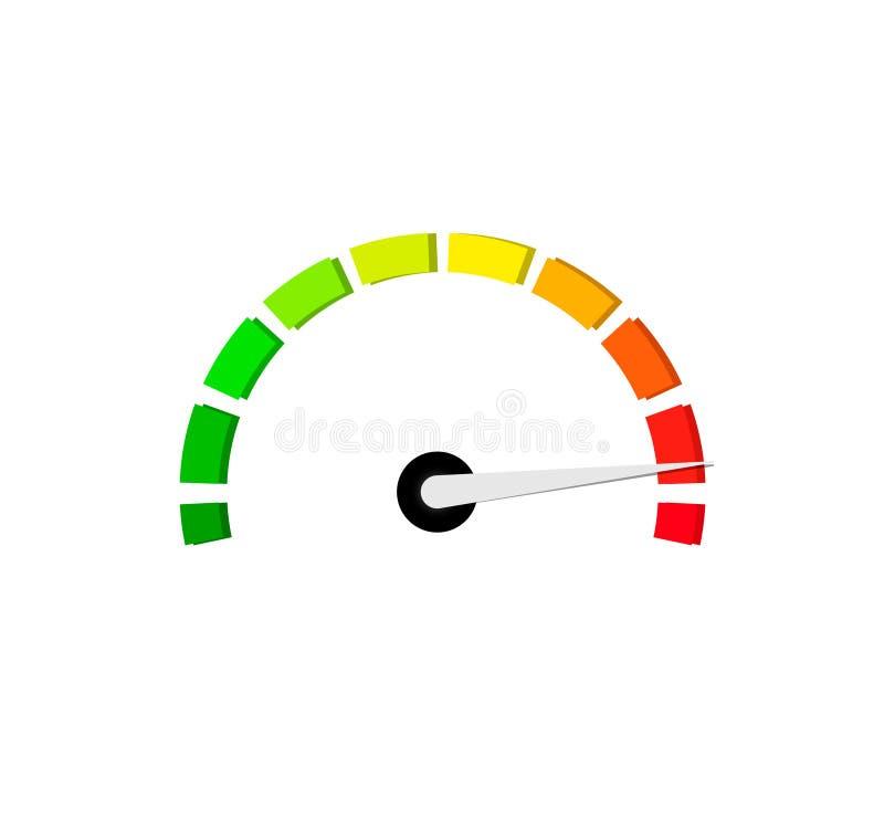 De meter van de de maatregelenschaal van het benchmarkniveau vector illustratie