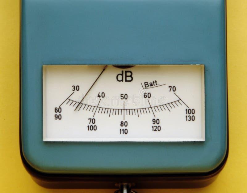 De meting van de decibel stock foto