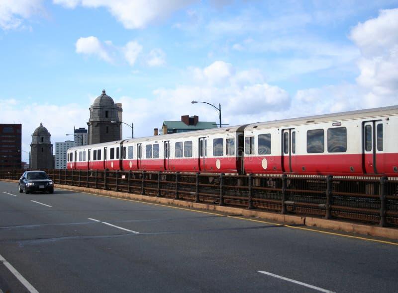 De metro van Boston stock afbeeldingen