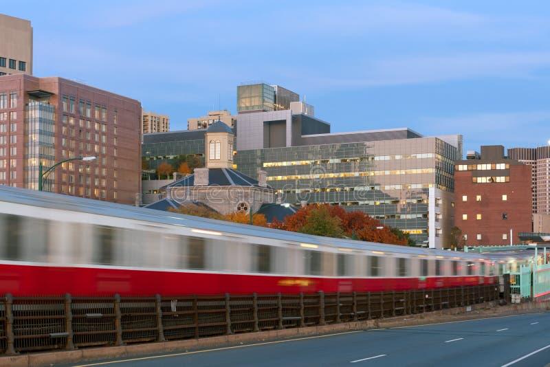 De metro van Boston stock afbeelding