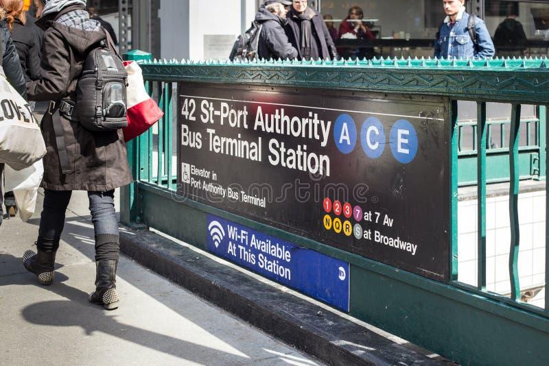 De Metro van de Stad van New York stock afbeelding