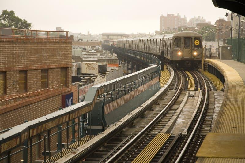 De metro van New York stock afbeelding