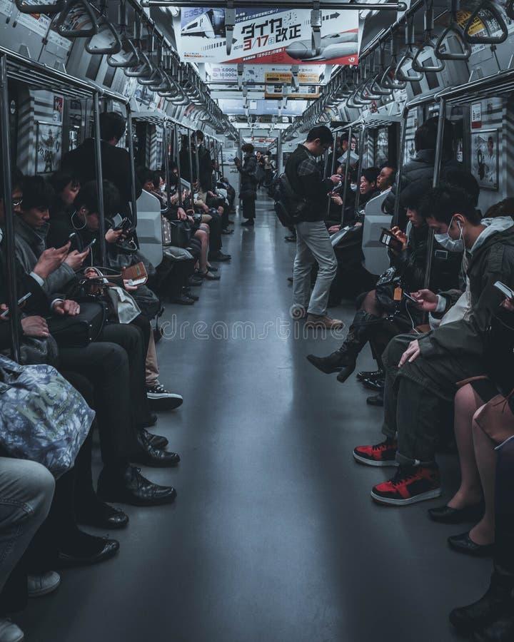 De metro van Tokyo stock afbeeldingen