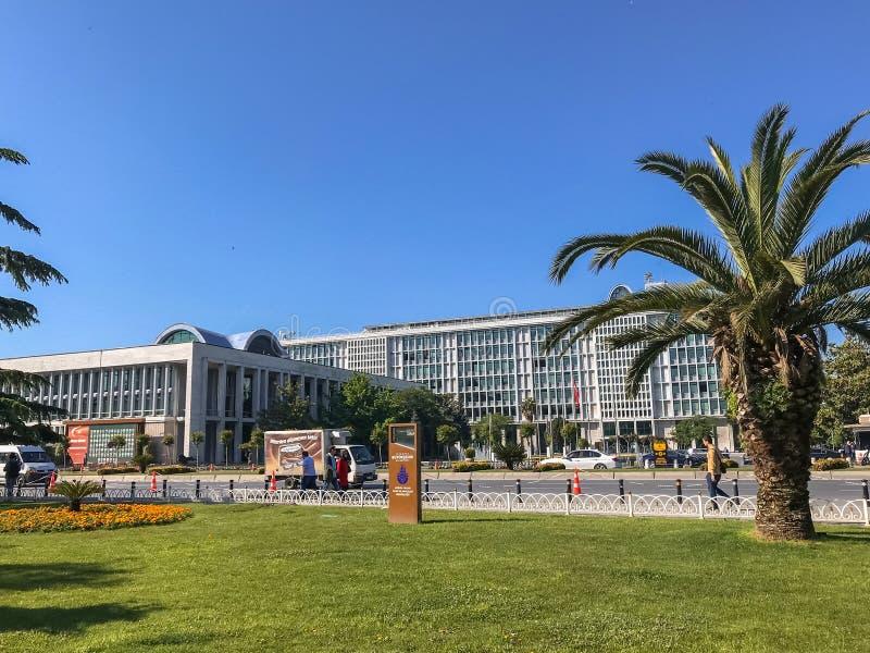 De Metropolitaanse de Gemeentebouw van Istanboel in Fatih stock foto