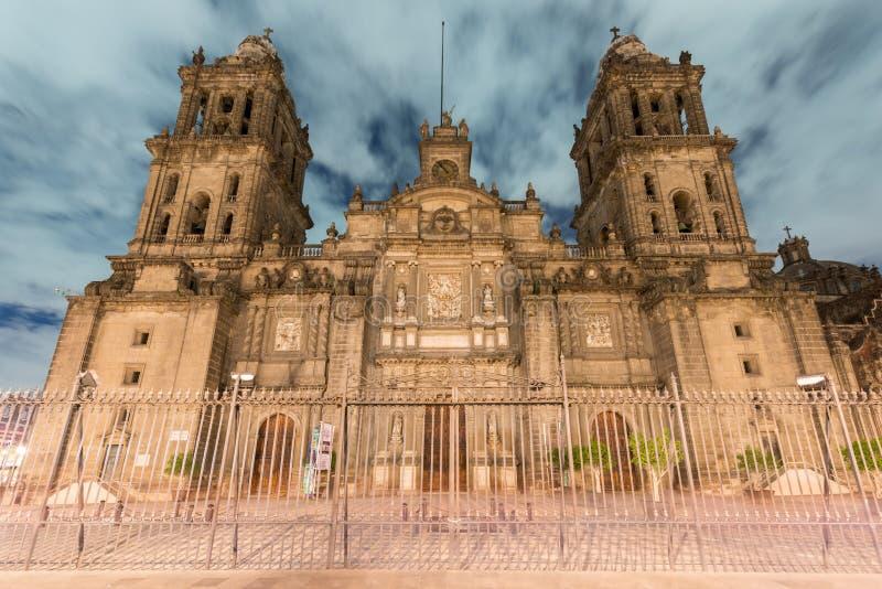 De Metropolitaanse Kathedraal van Mexico-City royalty-vrije stock afbeelding