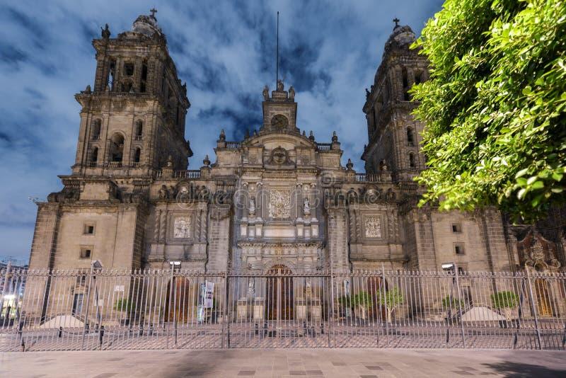 De Metropolitaanse Kathedraal van Mexico-City stock fotografie