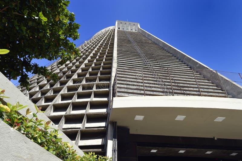 De Metropolitaanse Kathedraal van Rio de Janeiro, officieel San Seb stock foto's