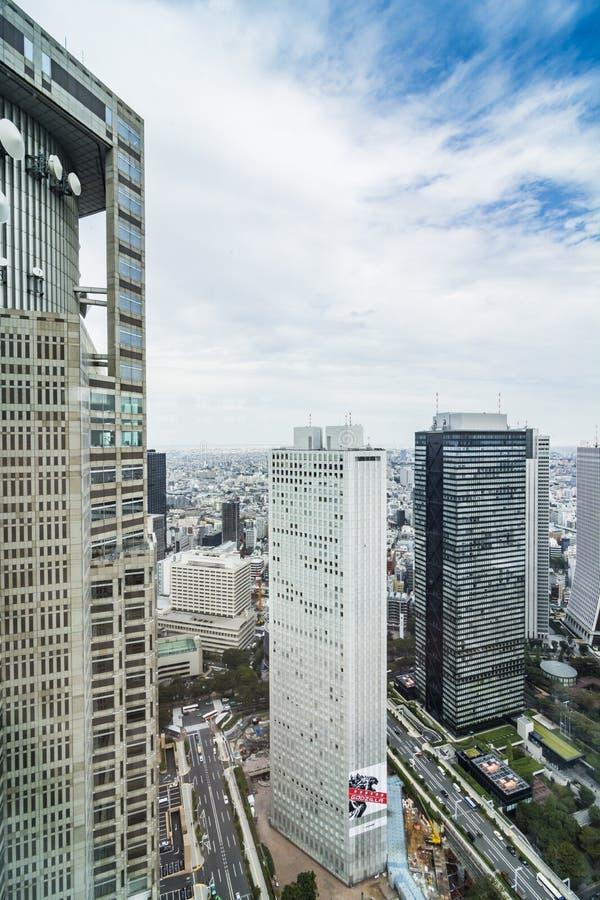 De Metropolitaanse de Overheidsbouw van Tokyo van de stadsmening stock foto's