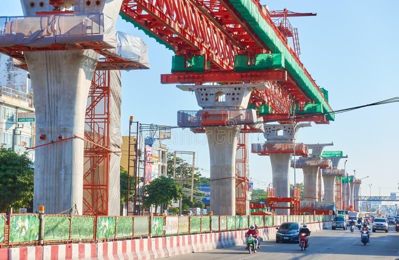 De Metropolitaanse Snelle Doorgangsbouw stock foto's