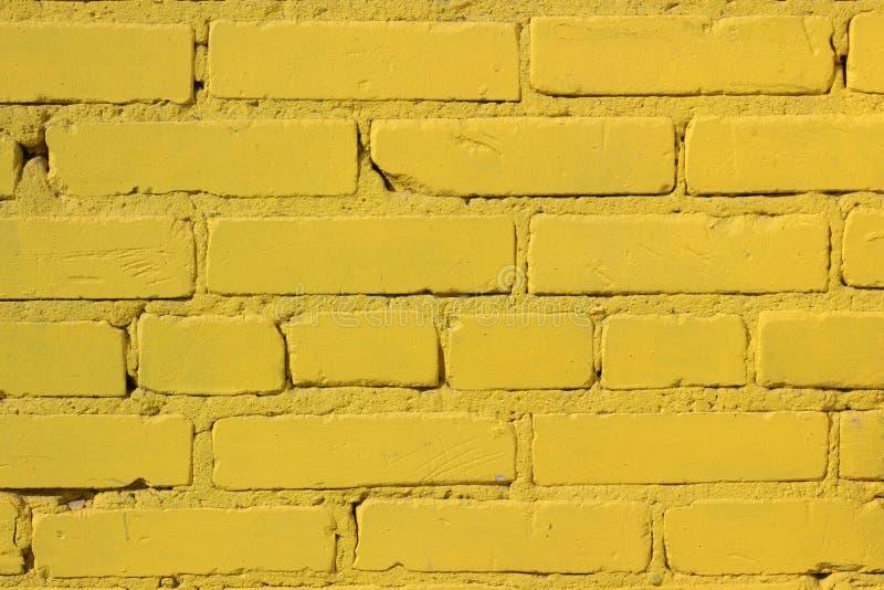 De metselwerktextuur Gele muur royalty-vrije stock foto