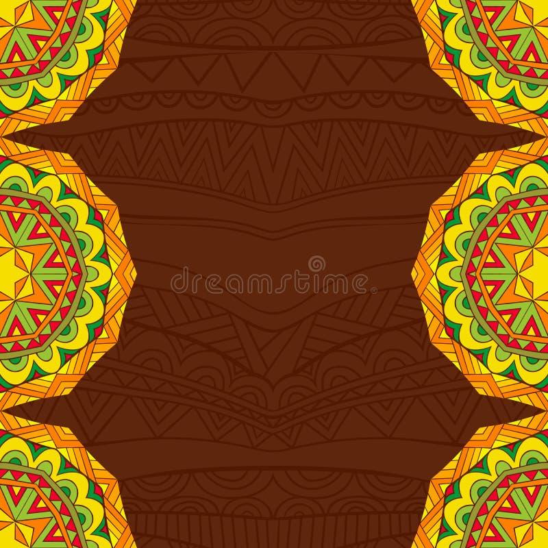 De Mexicaanse achtergrond van de fiestastijl in heldere kleuren vector illustratie