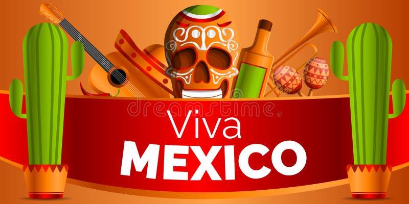 De Mexicaanse achtergrond van het muziekconcept, beeldverhaalstijl royalty-vrije illustratie
