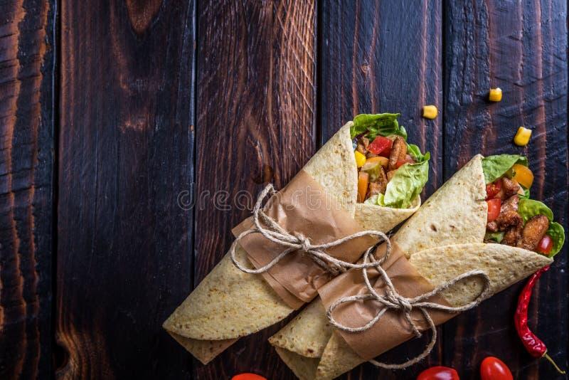 De Mexicaanse Omslag van de Tortilla stock foto's