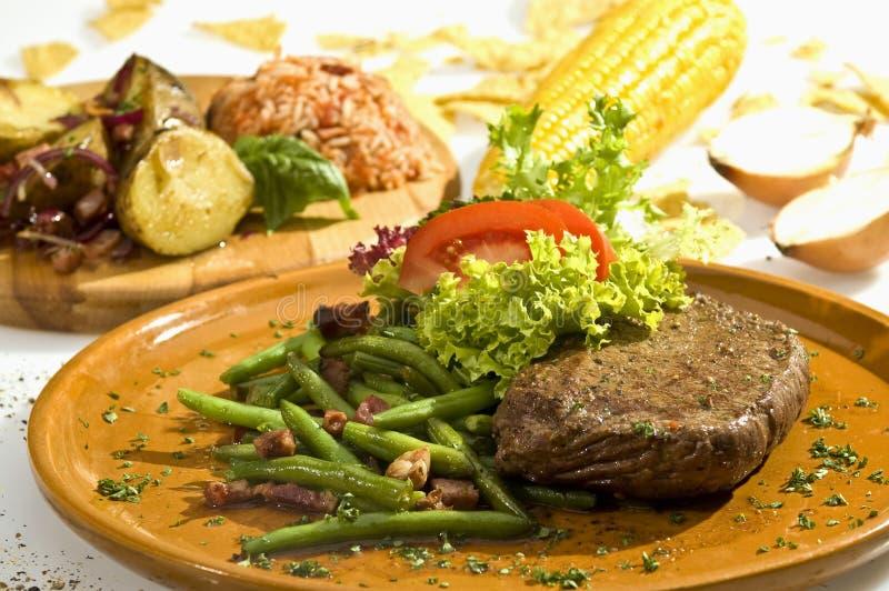 De Mexicaanse stijl van de biefstuk stock afbeeldingen