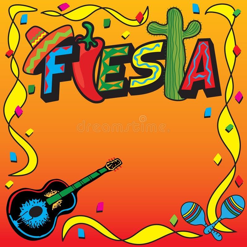 De Mexicaanse Uitnodiging van de Partij van de Fiesta vector illustratie