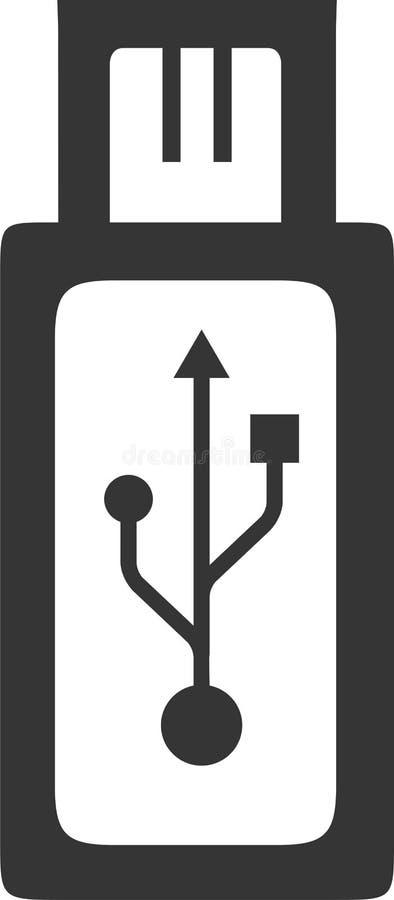 De micro- Stop van USB - de Adapter van het Haventussenvoegsel vector illustratie