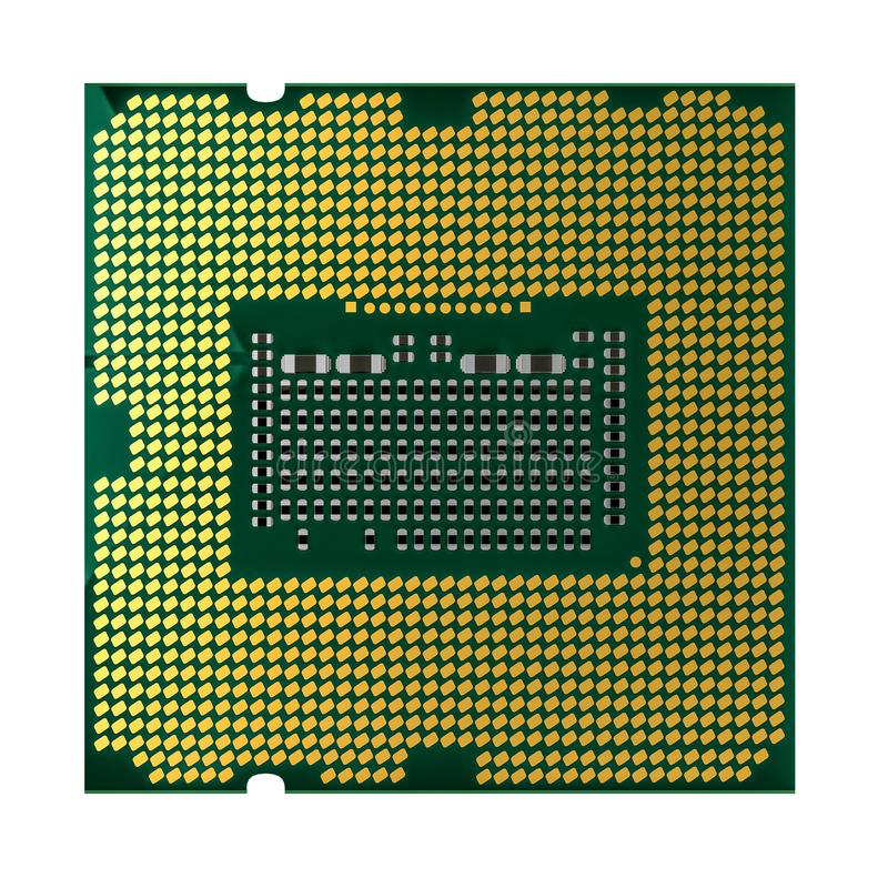 De microchip van cpu of van het CPU en het knippen weg royalty-vrije illustratie