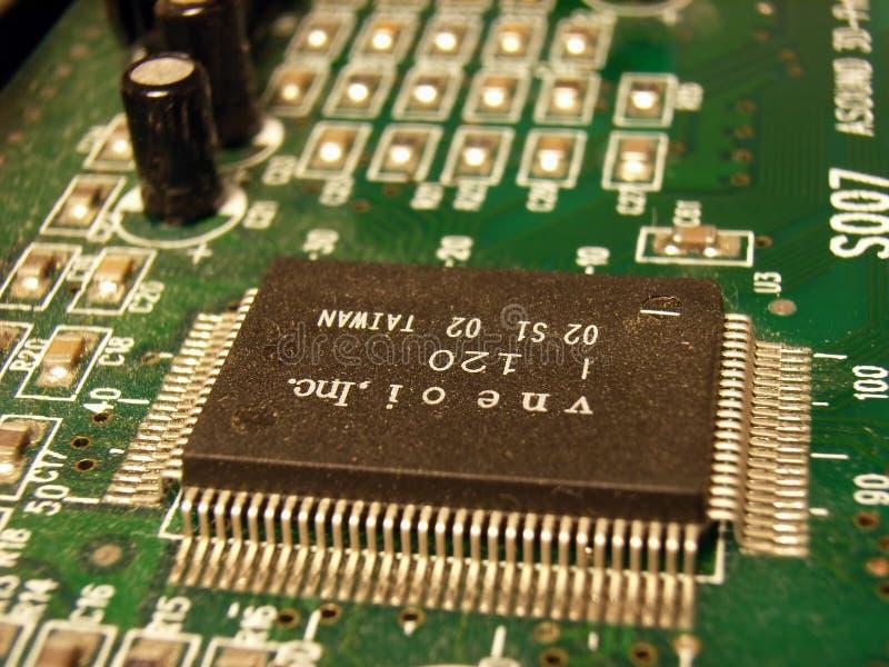 De Microchip van de computer stock fotografie