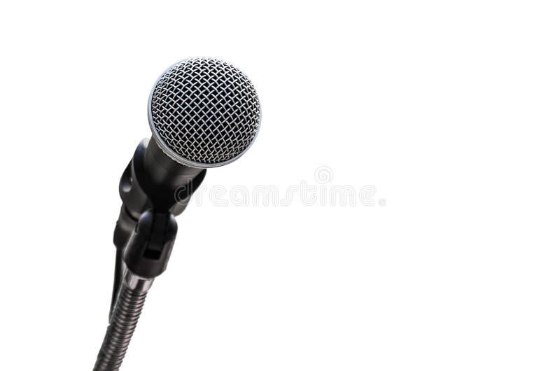 de microfoon isoleert op wit royalty-vrije stock afbeeldingen
