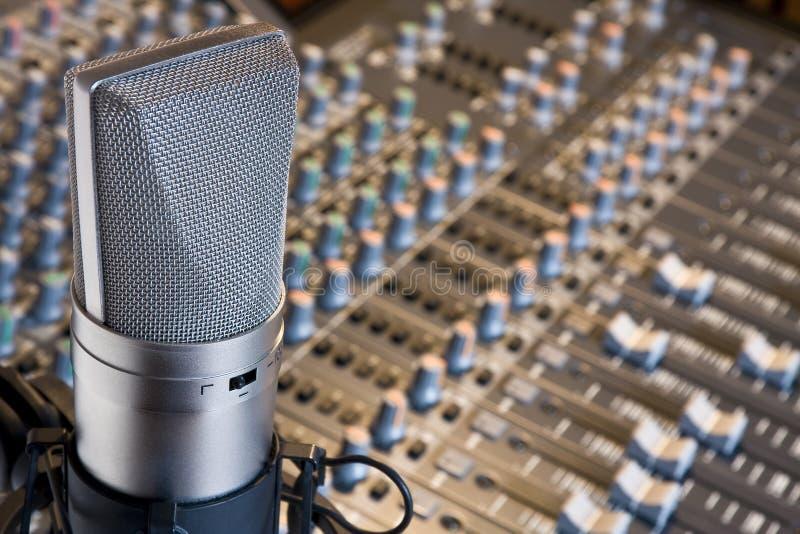 De microfoon van de studio stock fotografie