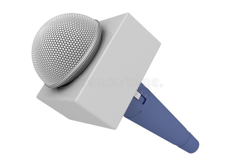 De microfoon van de verslaggever royalty-vrije illustratie