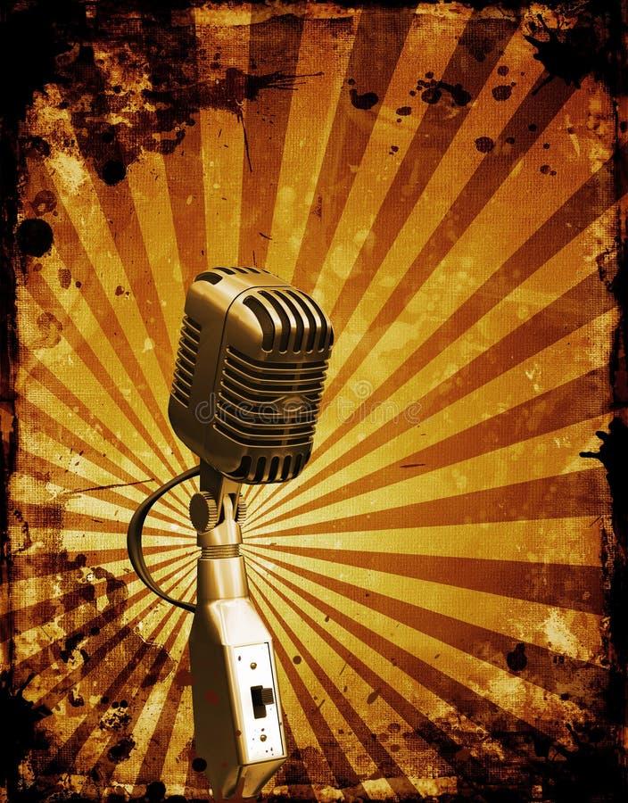 De microfoon van Grunge vector illustratie