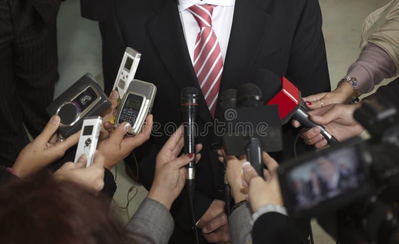 De microfoons van de conferentie royalty-vrije stock afbeeldingen