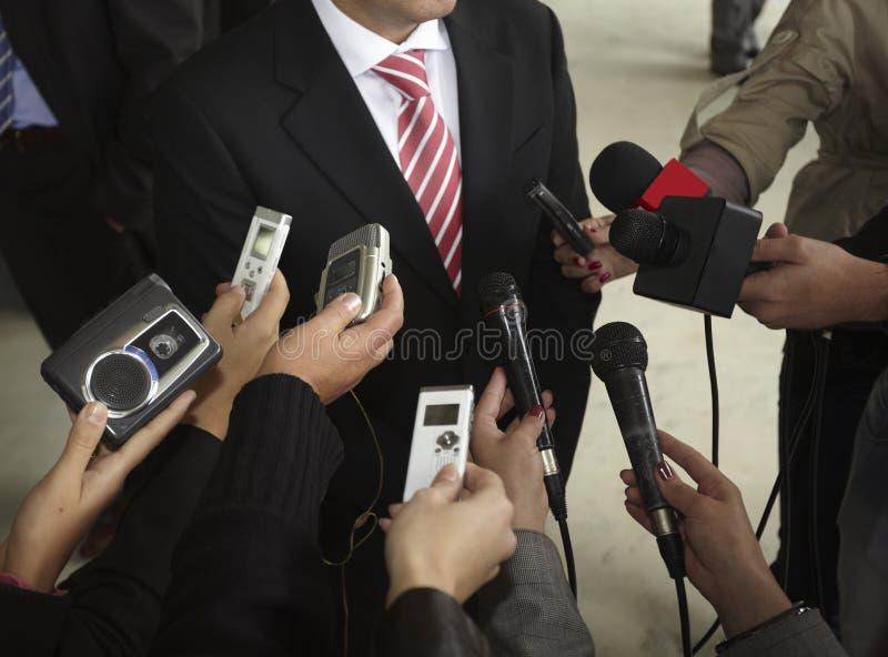 De microfoons van de conferentie royalty-vrije stock foto's