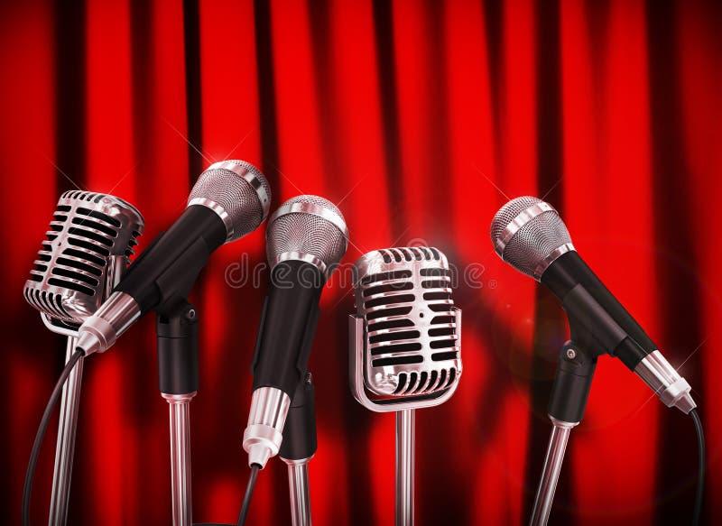De microfoons van de conferentievergadering royalty-vrije stock foto