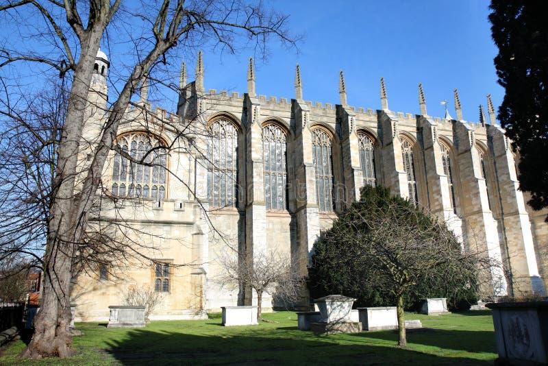De middeleeuwse Kapel van de Universiteit Eton royalty-vrije stock foto's
