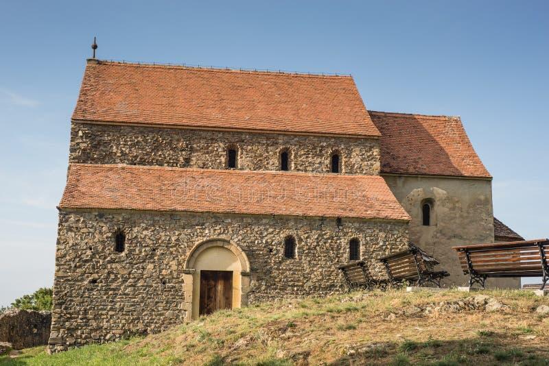 De middeleeuwse kerk van het steenmetselwerk royalty-vrije stock fotografie