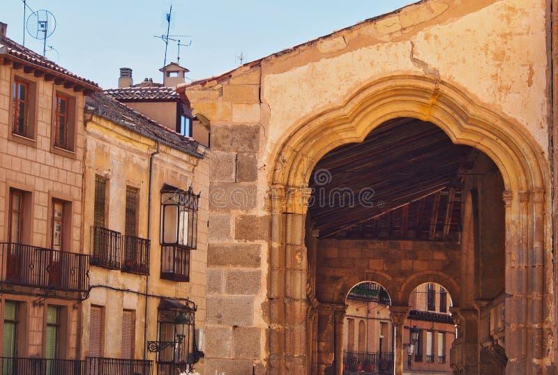 De middeleeuwse Kerk van Iglesia DE San MartÃn, Segovia, Spanje stock afbeelding