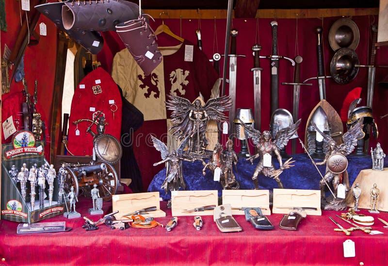 De middeleeuwse markt van Kerstmis, München Duitsland stock fotografie