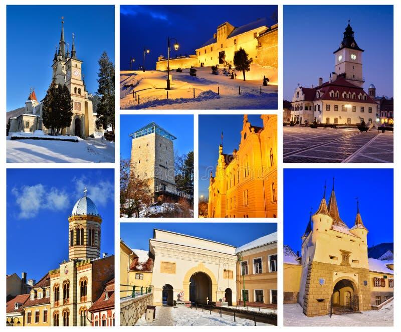 De middeleeuwse stad van Brasov, Roemenië royalty-vrije stock afbeelding