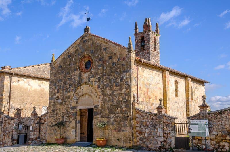 De middeleeuwse stad van Toscanië Monteriggioni stock foto's