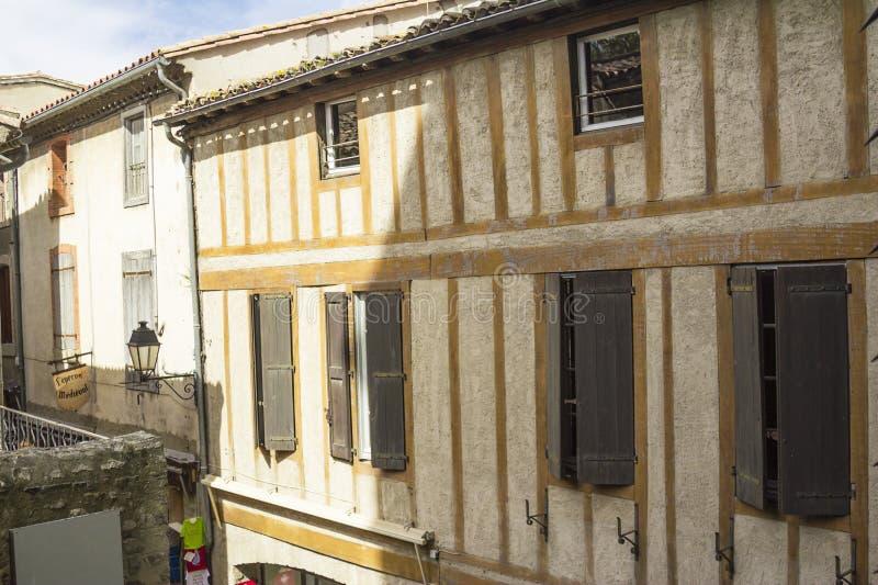 De middeleeuwse vesting van Carcassonne stock afbeelding
