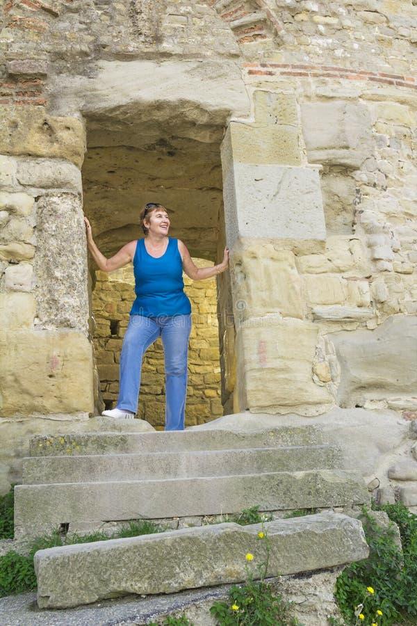 De middeleeuwse vesting van Carcassonne stock fotografie