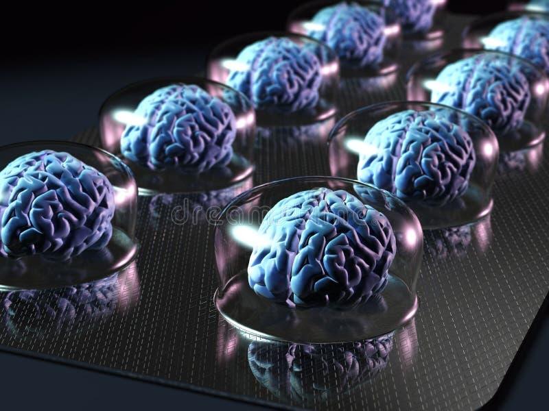 De middelen van hersenen stock illustratie