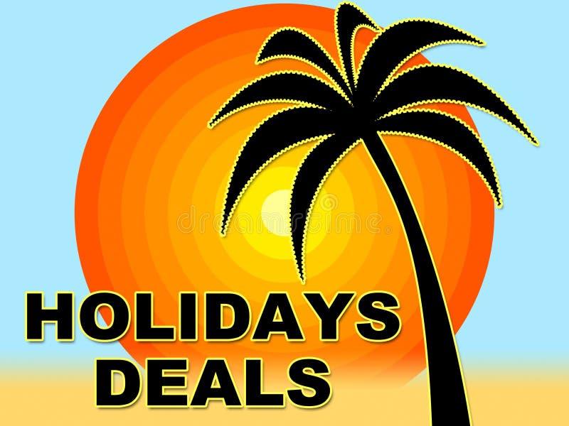 De Middelen van vakantieovereenkomsten sparen Koopjes en Aanbiedingen royalty-vrije illustratie