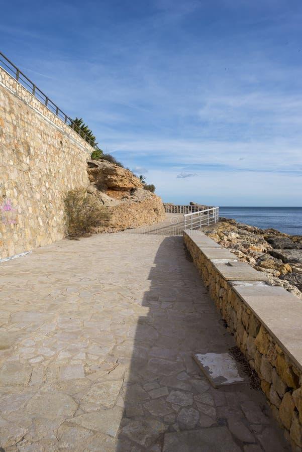 De Middellandse Zee in Ametlla DE brengt, Costa-daurada in de war stock fotografie
