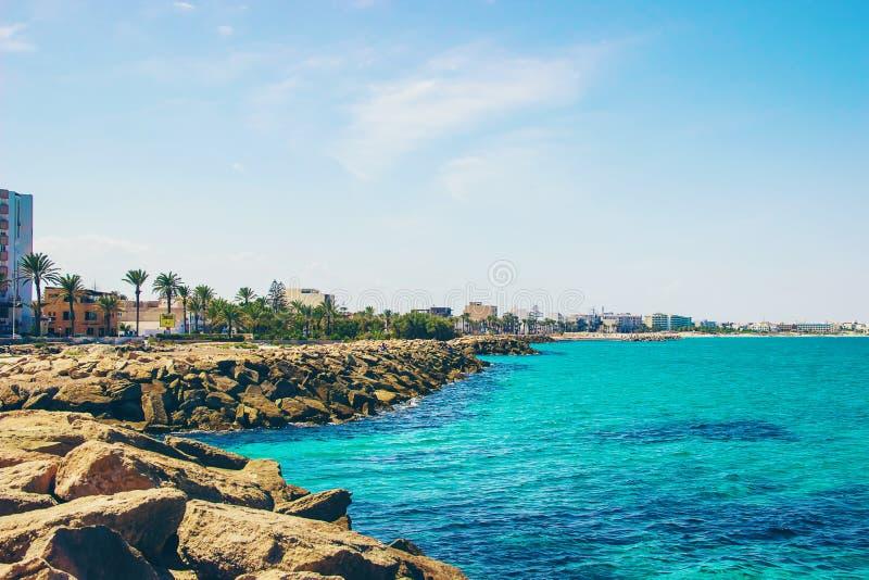 De Middellandse Zee Tunesië Mahdia royalty-vrije stock foto's
